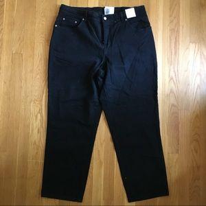 Plus Size Black Straight Leg Jeans